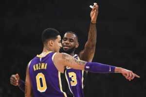 LeBron James des Lakers organise une fête de départ pour Kyle Kuzma après le commerce de Westbrook